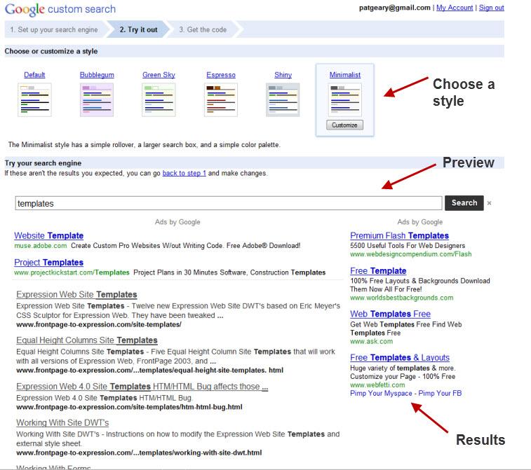 Custom Google Search: Add Bing Search Box
